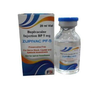 Bupivacaine BP Injection 5 Mg, 20 Ml